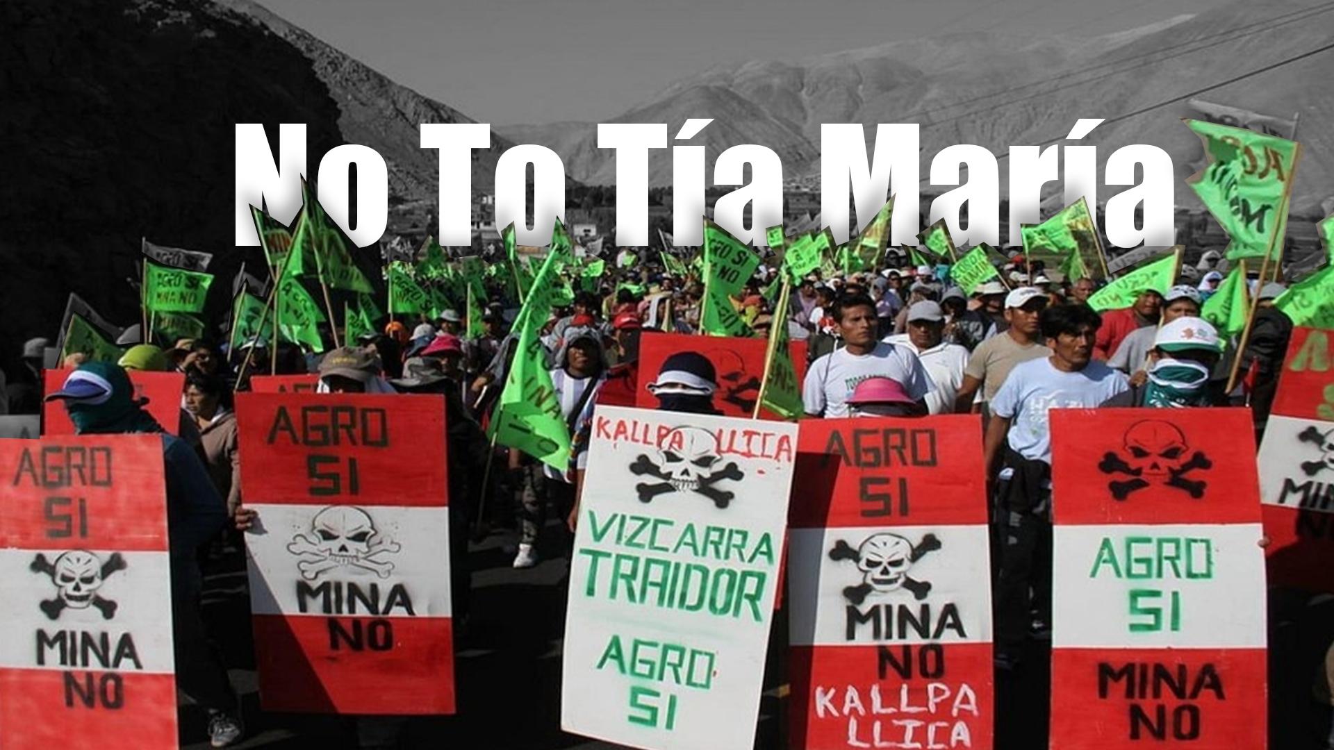 No to Tia Matia Peru Mine