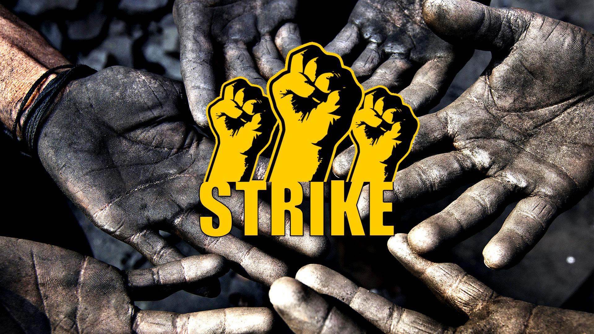 Coal workers strike in India